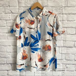 GUESS Floral Short Sleeved Blouse